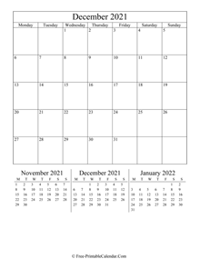 2021 calendar december vertical layout
