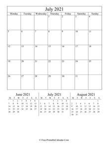 2021 calendar july vertical layout