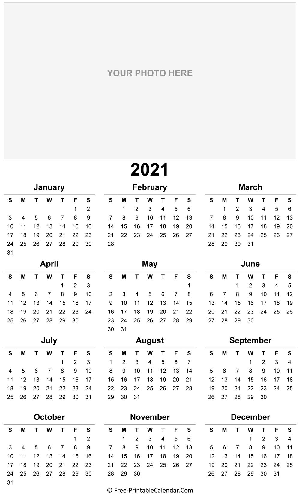 2021 Photo Calendar Templates
